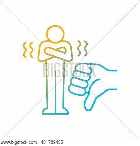 Criticism Gradient Linear Vector Icon. Constructive Criticism Motivates People. Force That Encourage