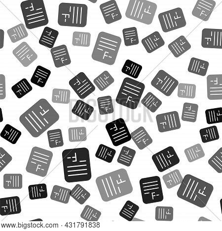 Black Exam Paper With Incorrect Answers Survey Icon Isolated Seamless Pattern On White Background. B