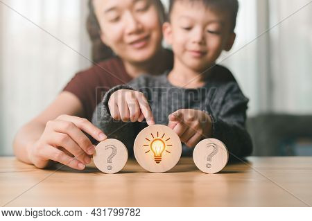 Asian Mom Let Your Son Choose What He Likes. To Create Opportunities For Children To Grow Up, Baby's