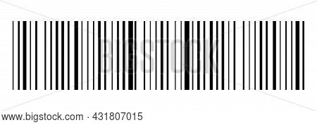 Realistic Barcode Icon. Design For Web And Mobile App. Vector Illustration Isolated On White Backgro