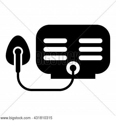 Inhaler Nebulizer Medical Aerosol Equipment Icon Black Color Vector Illustration Flat Style Image