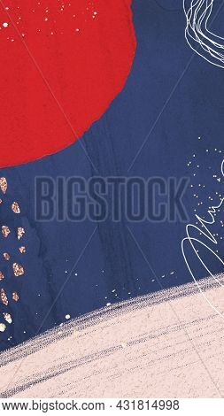 Bold contemporary Memphis textured mobile phone wallpaper illustration