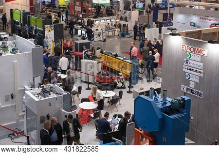 People At The Robot And Industrial Technology Fair