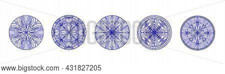 Mandala. Round Ornament Pattern. Vintage Decorative Elements. Hand Drawn Background.
