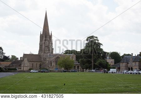 Views Of St Mary's Church And Church Green In Witney, Oxford, Taken 19th July 2021