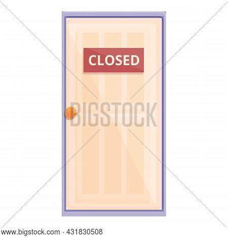 Discrimination Door Icon Cartoon Vector. Gender Equality. Business Promotion