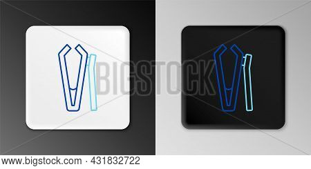 Line Nail Cutter Icon Isolated On Grey Background. Nail Clipper. Colorful Outline Concept. Vector