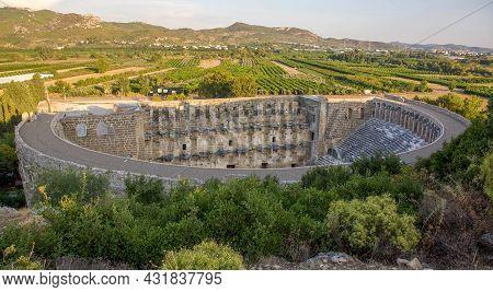 Ancient Amphitheater Aspendos In Antalya In Turkey