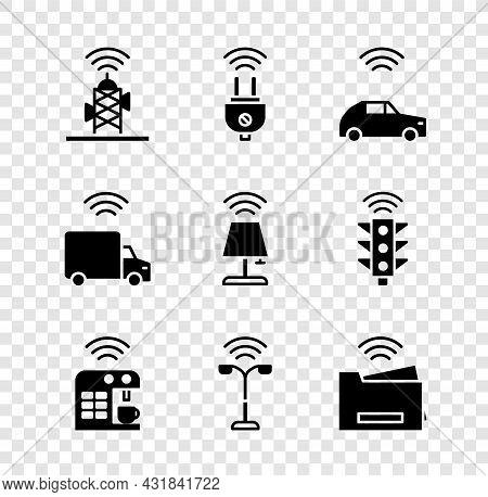Set Wireless Antenna, Smart Electric Plug, Car System With Wireless, Coffee Machine, Street Light, P