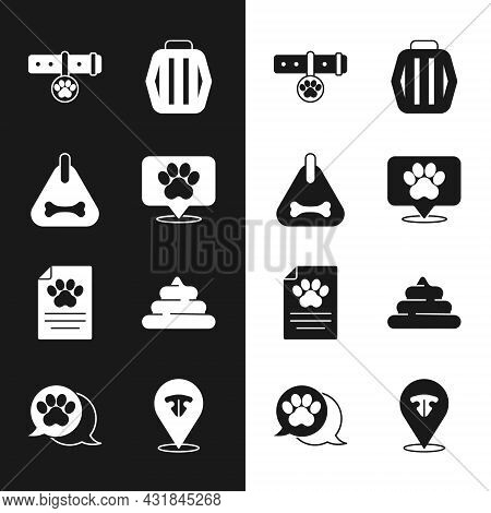 Set Location Veterinary Hospital, Dog Collar, Collar With Name Tag, Pet Carry Case, Clinical Record