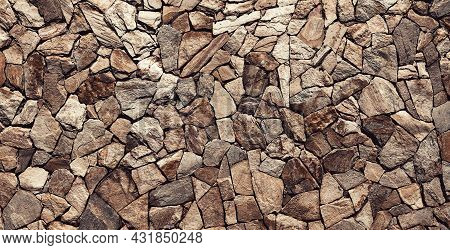Grunge Stones Wall. Texture Of Old Rock Wall For Background. Stone Wall As A Background Or Texture.