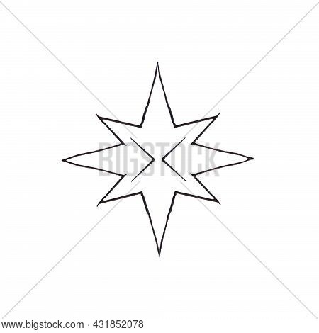 Drawings With A Black Pen Patterns Similar To Snowflakes Or Falling Snow Each Snowflake Is Individua