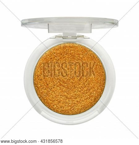 Open Orange Lip Gloss In Container Isolated On White Background