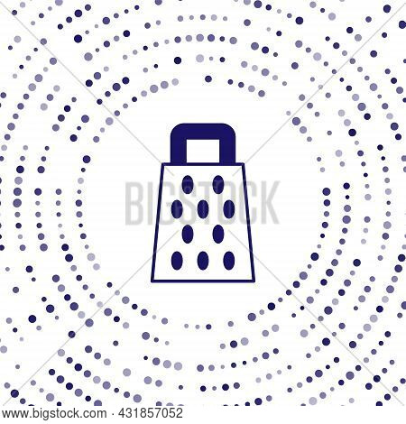 Blue Grater Icon Isolated On White Background. Kitchen Symbol. Cooking Utensil. Cutlery Sign. Abstra
