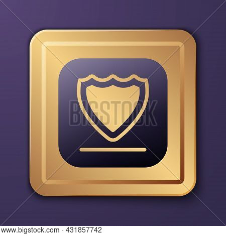 Purple Shield Icon Isolated On Purple Background. Guard Sign. Security, Safety, Protection, Privacy