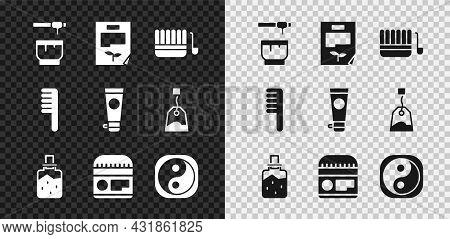 Set Honey Dipper Stick And Bowl, Leaf Document, Sauna Bucket Ladle, Spa Salt, Cream Or Lotion Cosmet