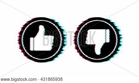 Yes No Word Text On Talk Shape.yes No In Speech Bubble Glitch Icon. Vector Stock Illustration.
