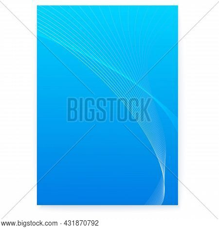 Curved Blended Lines On Poster. Abstract Graphic Background. Cover In Scientific Style. Vector Illus
