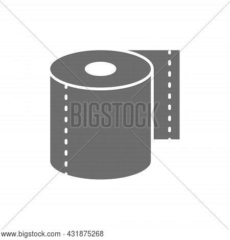 Roll Of Toilet Paper, Napkins Grey Icon.