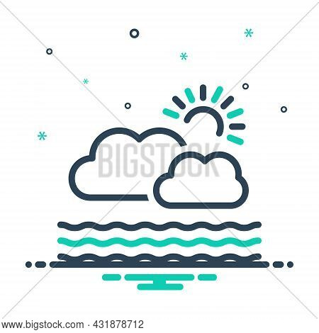 Mix Icon For Atmosphere Environment Condition Nature Weather Season Climate Cloud Air