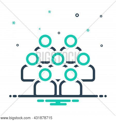 Mix Icon For Board Member Director Executive Directors People Team Group Colleagues