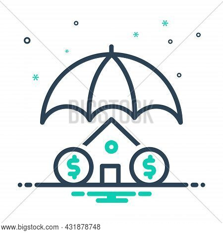 Mix Icon For Insurance Home-insurance Home Residential Mortgage Safe Guarantee Protection Property R