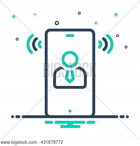Mix Icon For Speech Oration Harangue Speaking Lecture Recitative Conversation Phone