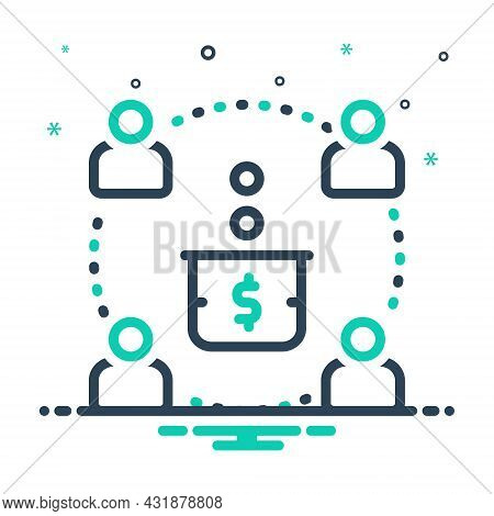 Mix Icon For Contribute Give Share Provide Bestow Confer Endue Donation Sharing Allowance Offering P