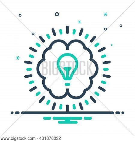 Mix Icon For Intellectual Mental Intellective Education Brain Psychological Lightbulb Lightbulb Crea