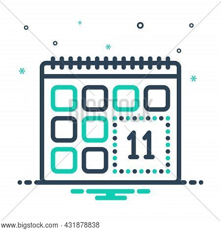 Mix Icon For Remind Leisure-time Calendar Appointment Reminisce Remind-of Remise Leave Holiday Vacat
