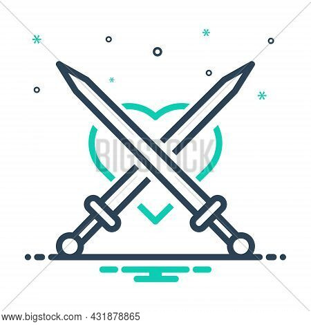 Mix Icon For Attack Invasion Aggression Onslaught Sword Aggression Disarm Daunt Weapon Sharp