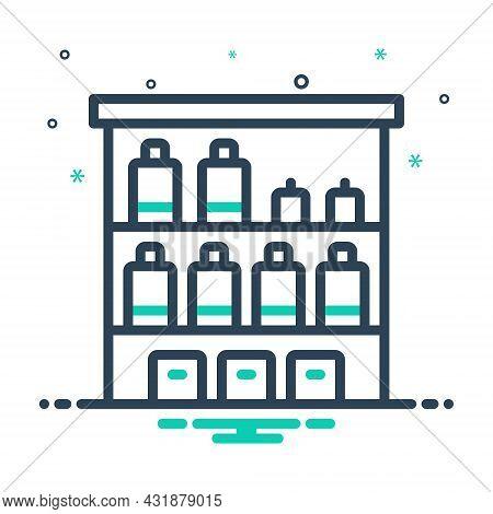 Mix Icon For Shelf Storage Arranging Displaying Furniture Rack Cupboard Rack Showcase Wardrobe