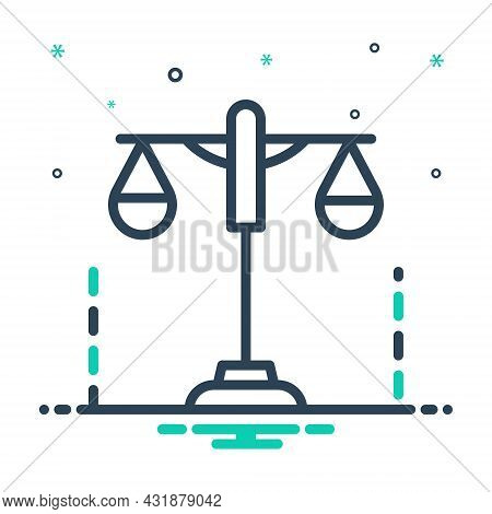 Mix Icon For Constitutional Authority Balance Constitutional-law Courthouse Judgment Licit