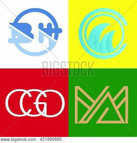Set Bundle Flat Minimalist Logo Bh, Wave, Cgo And Am