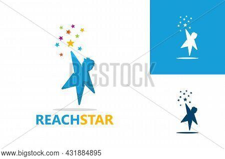 Reach Star Logo Template Design Vector, Emblem, Design Concept, Creative Symbol, Icon