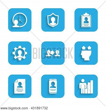 Set Project Team Base, Mobile With Resume, Productive Human, User Of, Resume, Human Gear, Clipboard