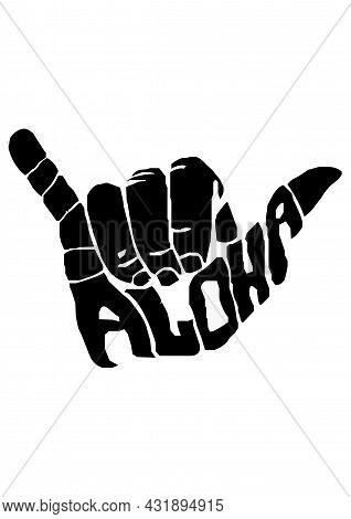 Creative Aloha Poster Flyer Or T Shirt Template Design