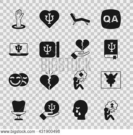 Set Man Graves Funeral Sorrow, Rorschach Test, Psychology Book, Psi, Armchair, Psychology, , Psychol