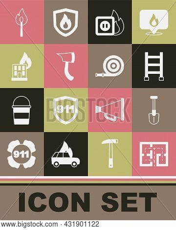 Set Evacuation Plan, Fire Shovel, Escape, Electric Wiring Of Socket In Fire, Firefighter Axe, Burnin