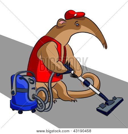 Anteater And Vacuum Cleaner