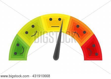 Pain Scale. Horizontal Gauge Measurement Assessment Level Indicator Stress Pain Faces Scoring Manome