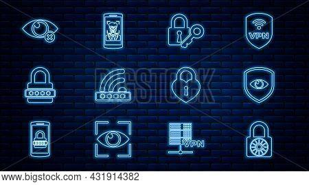 Set Line Safe Combination Lock Wheel, Shield And Eye, Lock Key, Wifi Locked, Password Protection, In