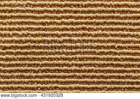Texture And Row Line Form Of Groove On Fabric Mat.