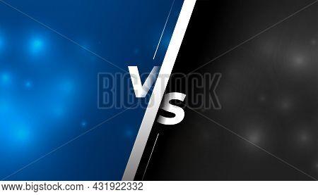 Versus Vs Screen Comparison Background Vector Design Illustration