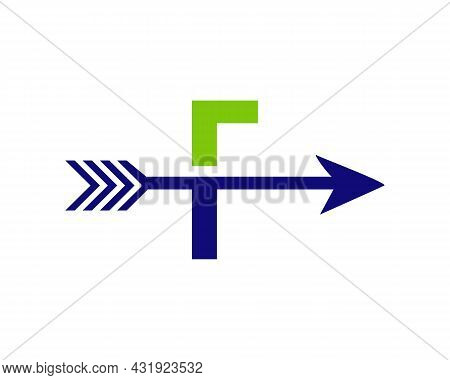 Financial Logo With F Letter Upward Arrow Concept. Initial F Letter Financial Marketing, Business An