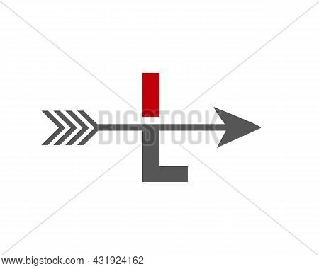 Financial Logo With L Letter Upward Arrow Concept. Initial L Letter Financial Marketing, Business An