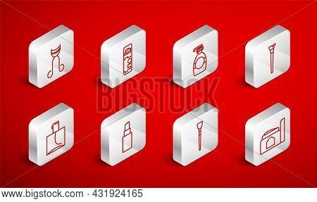 Set Line Cream Cosmetic Tube, Shaving Gel Foam, Bottle Of Liquid Soap, Makeup Brush, Eyelash Curler,