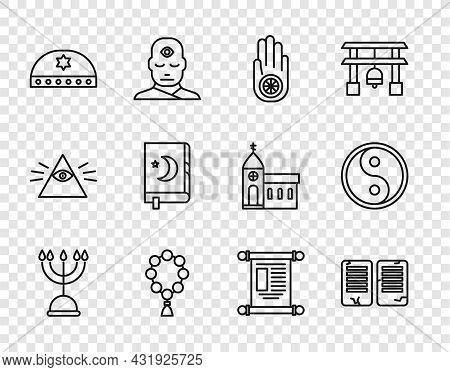 Set Line Hanukkah Menorah, The Commandments, Jainism Jain Dharma, Rosary Beads Religion, Jewish Kipp