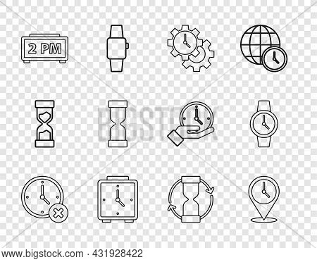 Set Line Clock Delete, Location With Clock, Time Management, Alarm, Digital Alarm, Old Hourglass, An