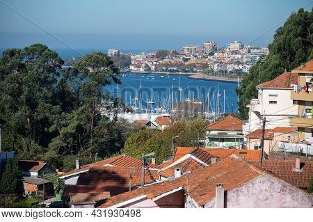 Walking Along Douro River From Porto To Atlantic Ocean Coast And View On River And Houses Of Porto,